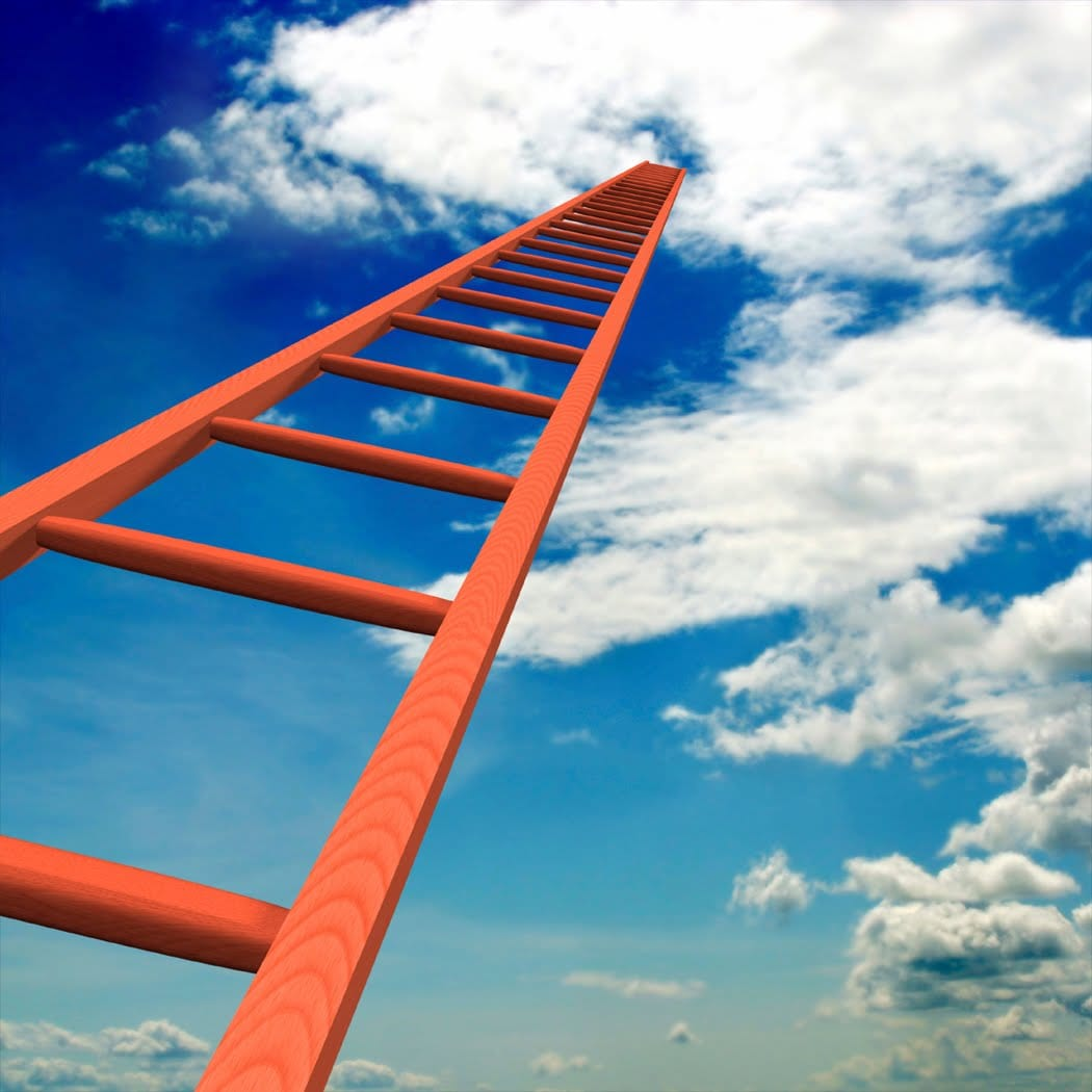 Ladder to the sky, ladder going into the clouds