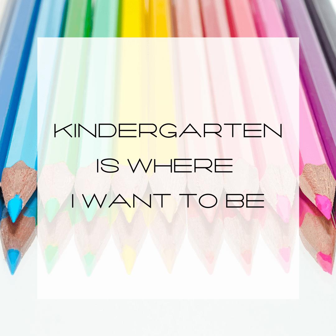 blog title Kindergarten