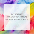 First Kindergarten Science Project, Science Projects for Kindergarten