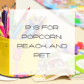 kindergarten worksheet, letter P