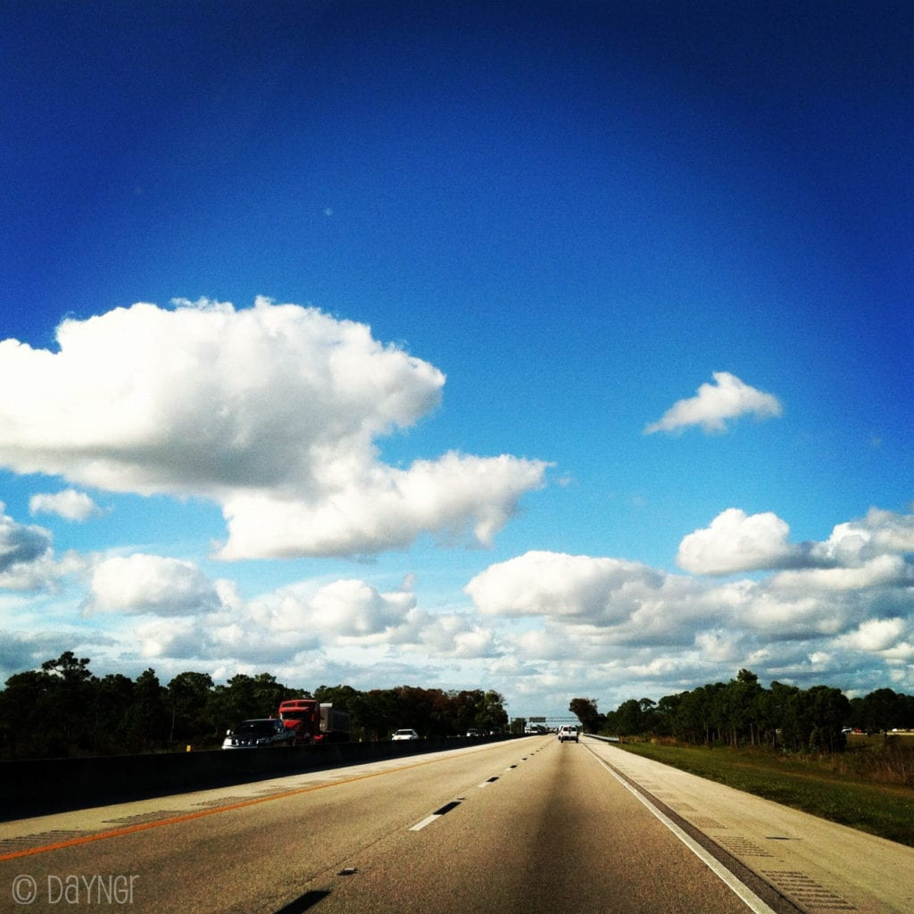 Blue Sky and Open Roads, Sky and Road