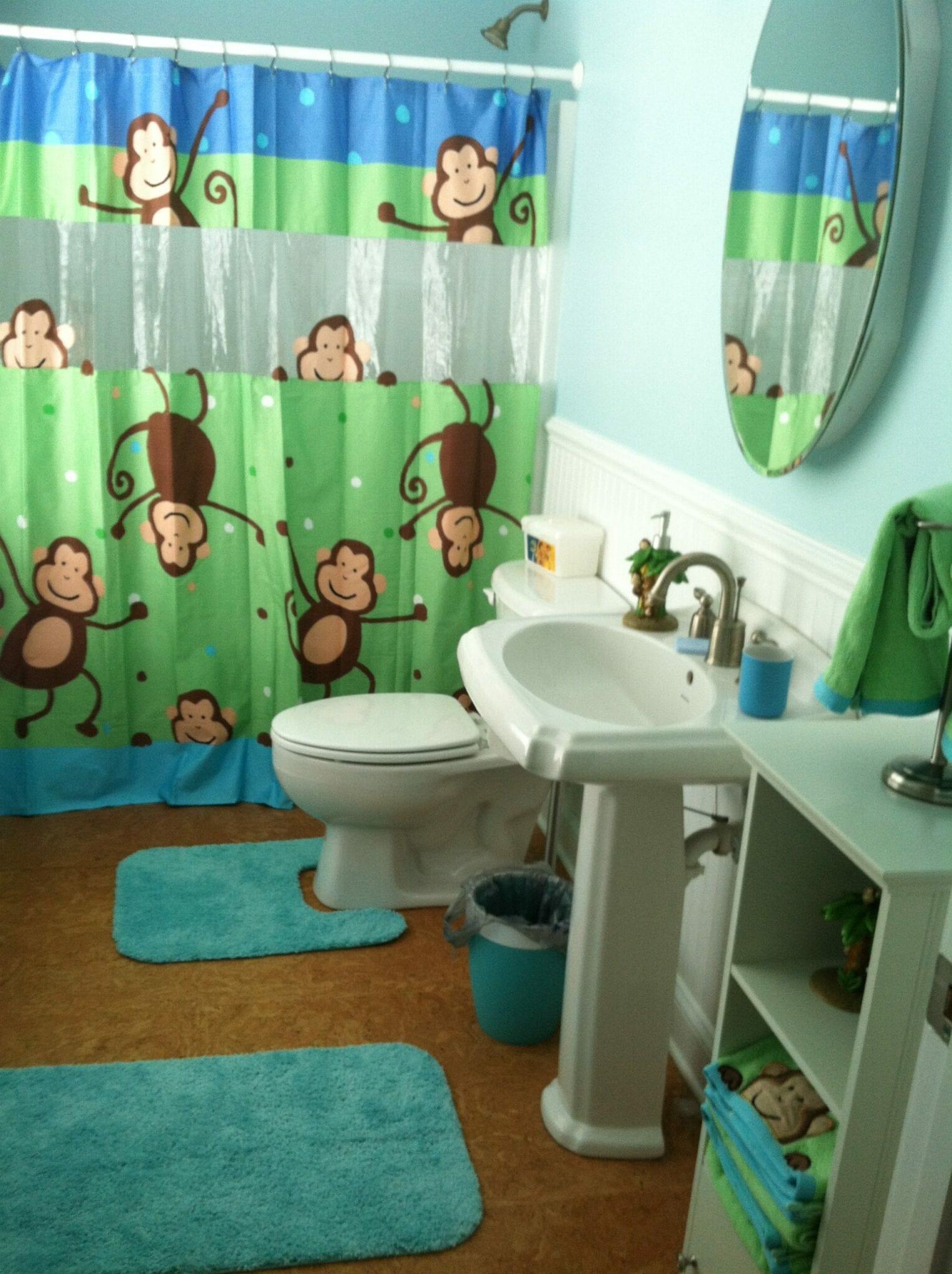 Monkey-themed-bathroom