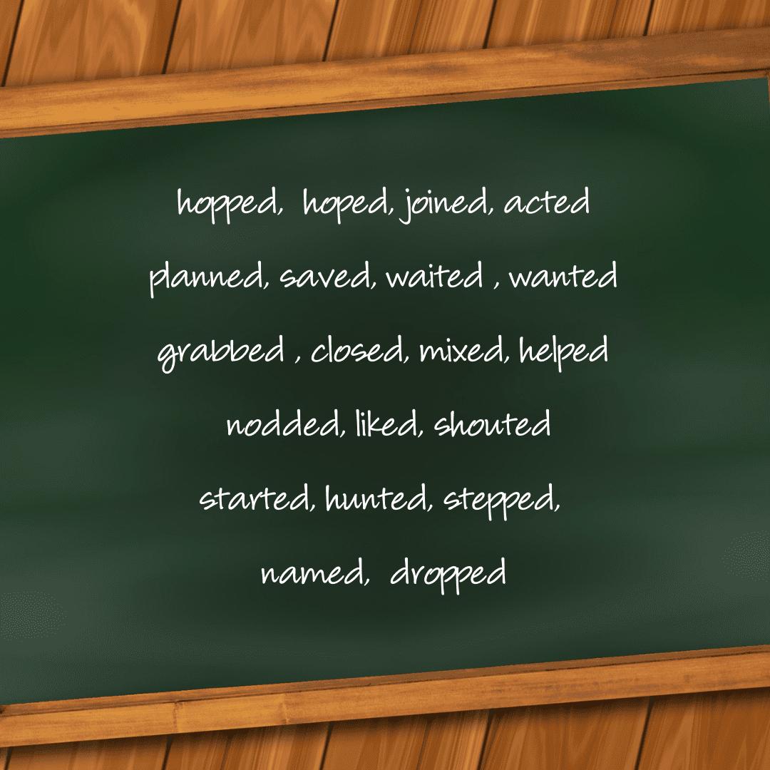 2nd grade spelling words on chalk board