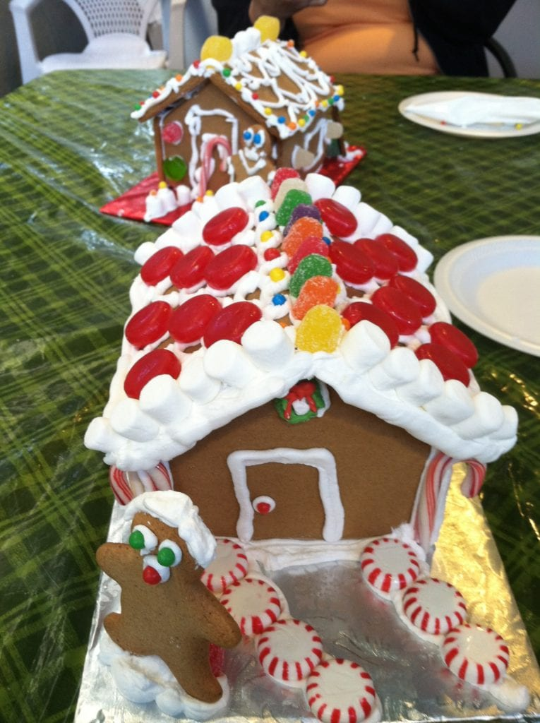 Decorating Gingerbread Houses, Gingerbread House, Gingerbread House decorating in Morehead City