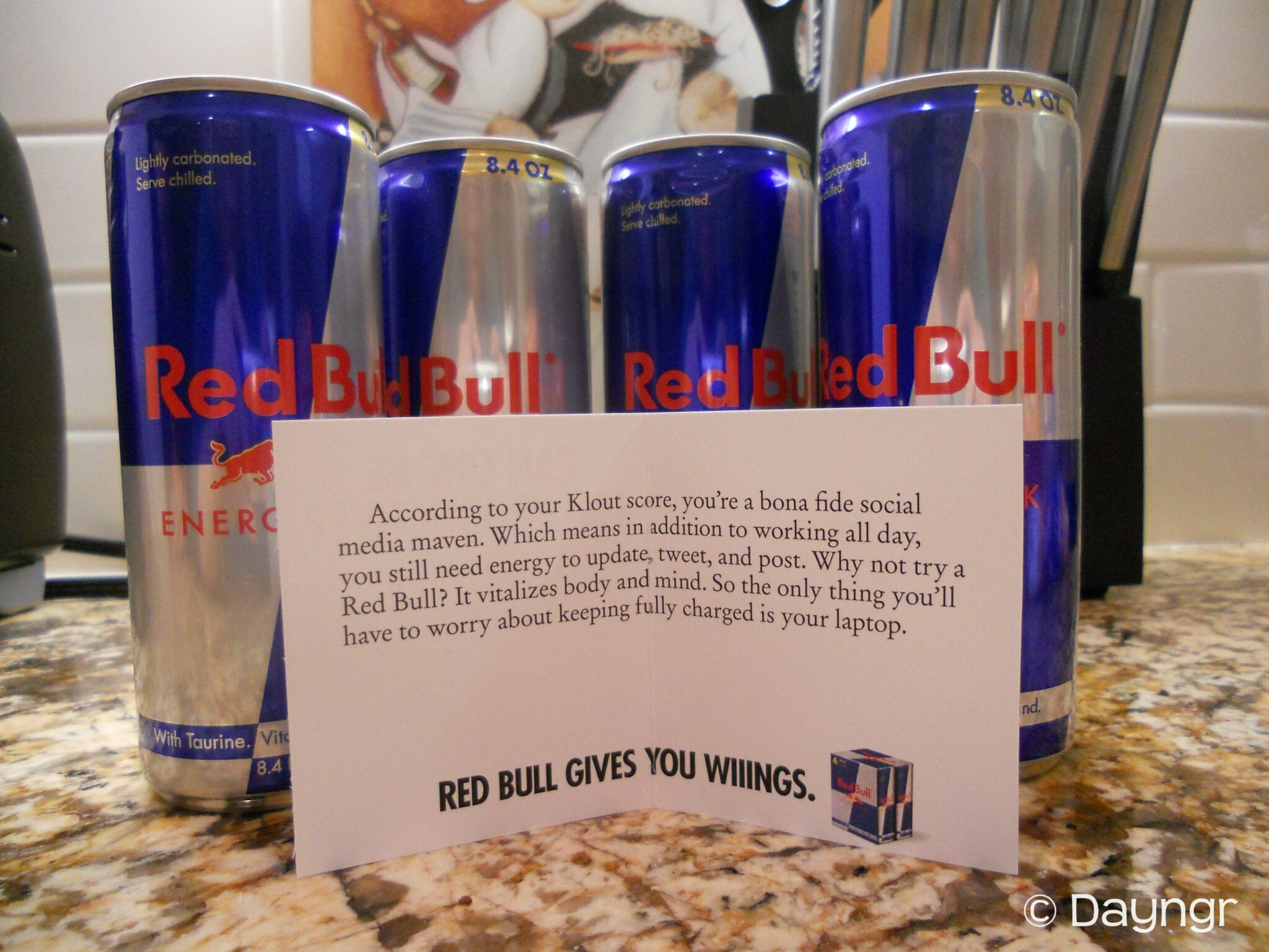 Red Bull Klout Perk