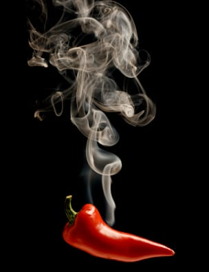 Smoking chili pepper