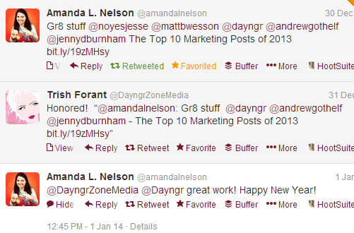 Top Marketing Posts 2013 Tweet