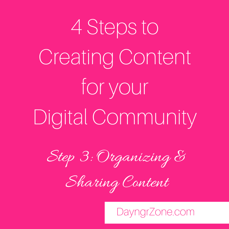 Organizing and Sharing Content for your Digital Community
