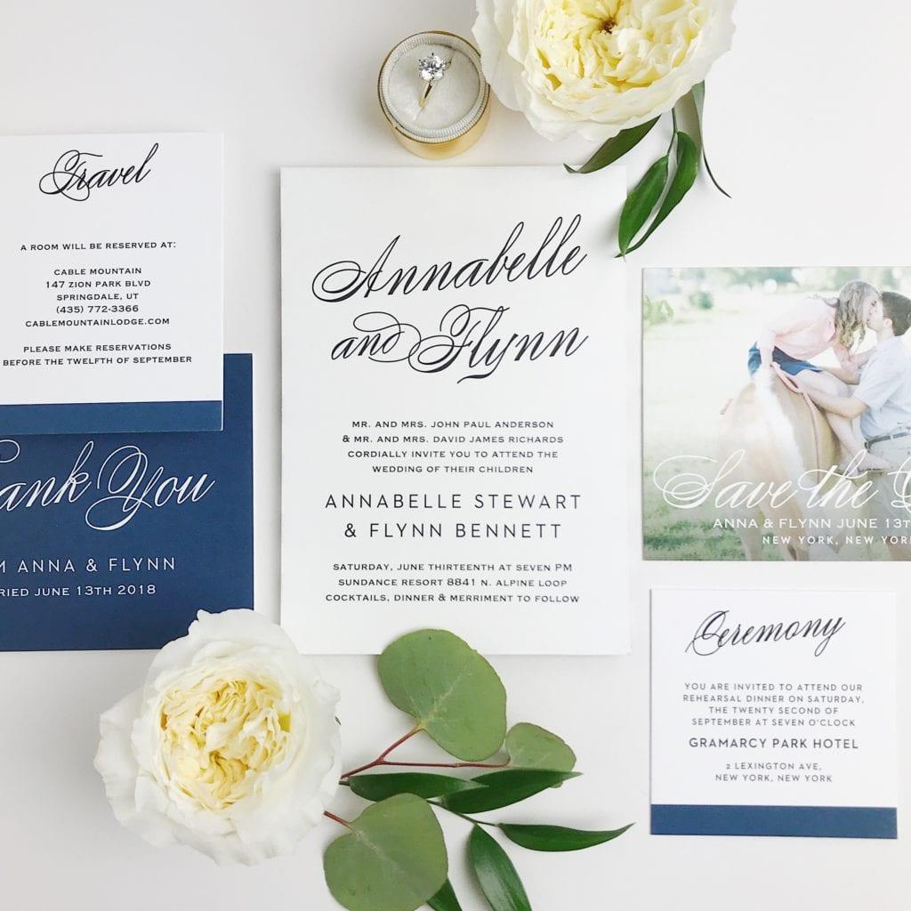Basic Invite Wedding Invitation, Simple Wedding Invitations