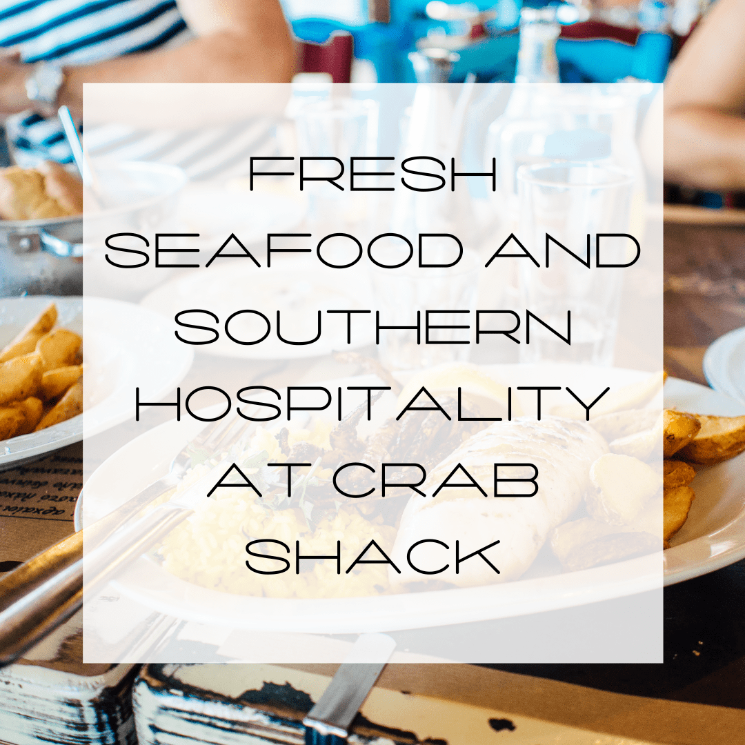 fresh seafood at the crystal cosst, crab shack