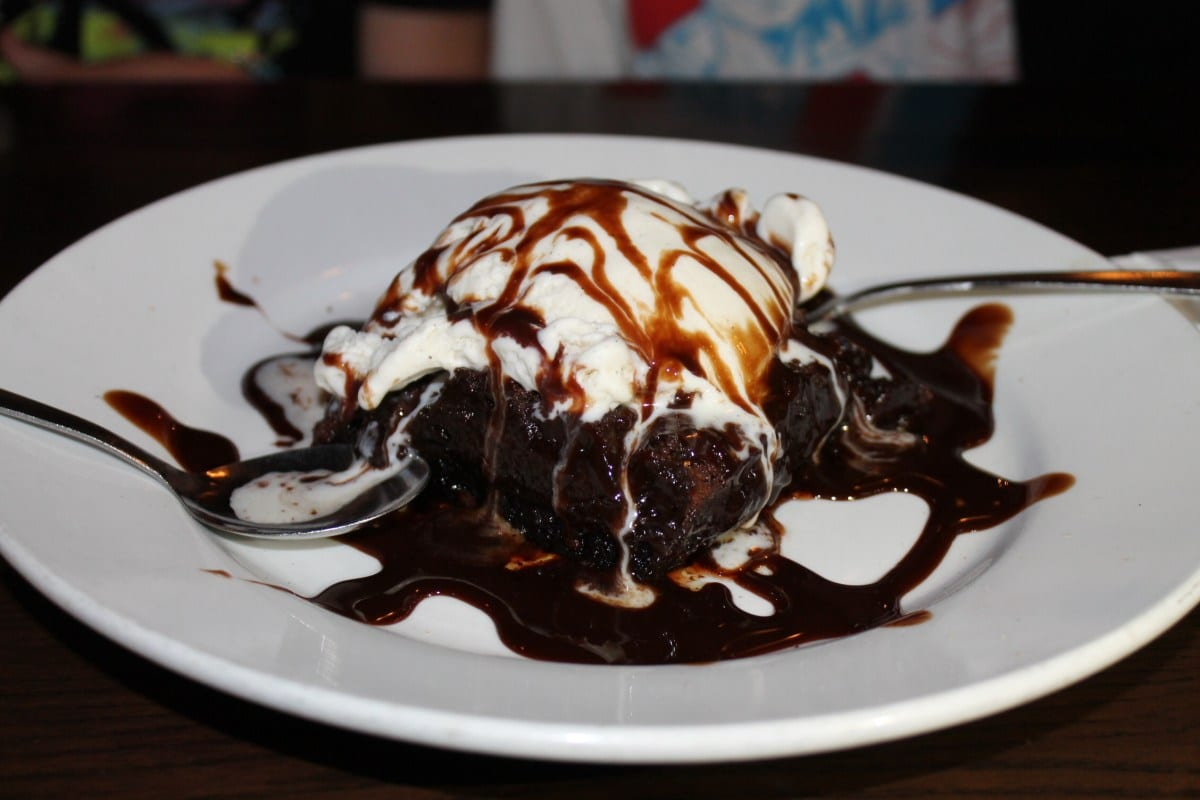 Brownie and ice cream at Morgan's Tavern and Grill